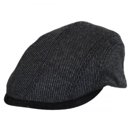 Stetson Striped Wool and Suede Ivy Cap