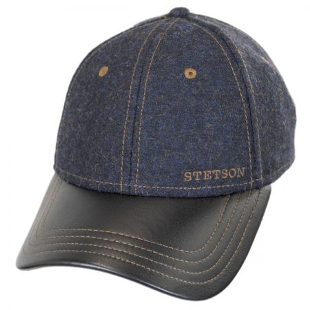 Stetson Wool and Leather Baseball Cap