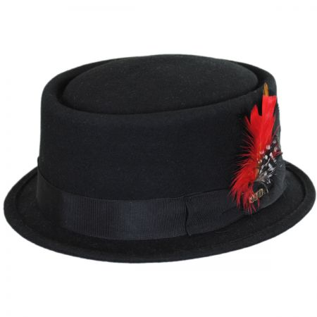 Scala Wool Felt Pork Pie Hat