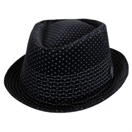 Stacy Adams Velvet Diamond Crown Fedora Hat