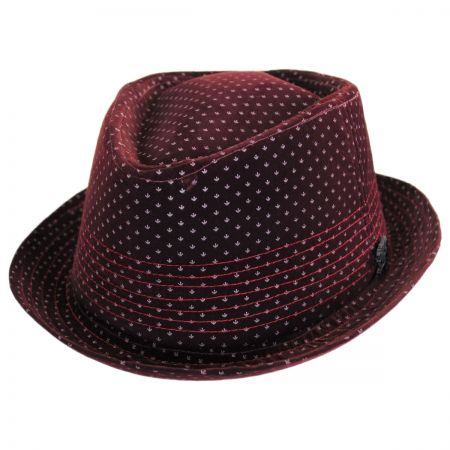 Stacy Adams Velvet Diamond Crown Fedora Hat