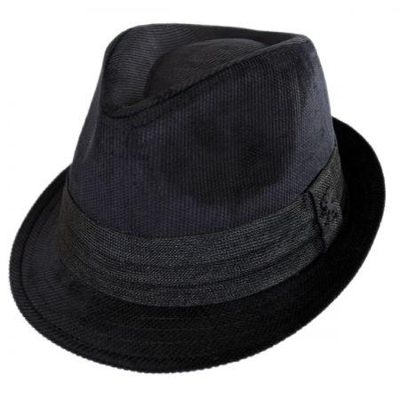Corduroy Tear Drop Trilby Fedora Hat alternate view 1