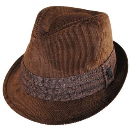 Corduroy Tear Drop Trilby Fedora Hat alternate view 9
