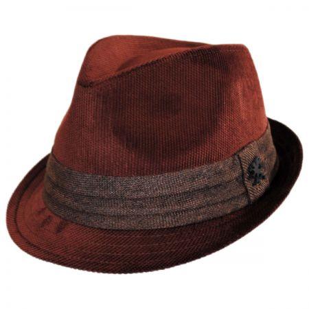 Stacy Adams Corduroy Tear Drop Trilby Fedora Hat