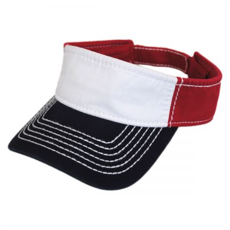 Otto Thick Stitch Cotton Sport Visor