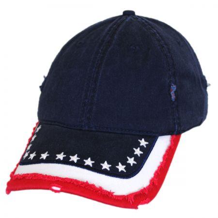 Stars and Stripes Distressed Adjustable Baseball Cap alternate view 4