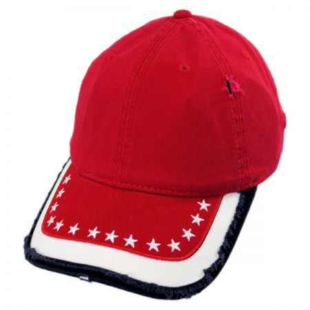 Stars and Stripes Distressed Adjustable Baseball Cap alternate view 5