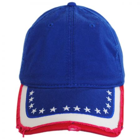 Stars and Stripes Distressed Adjustable Baseball Cap alternate view 1
