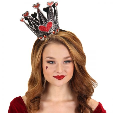 Elope Queen of Hearts Sparkle Fascinator Headband