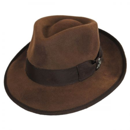 Carlos Santana Nostalgia Wool Felt Fedora Hat