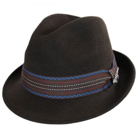 Carlos Santana Trip Wool Felt Trilby Fedora Hat