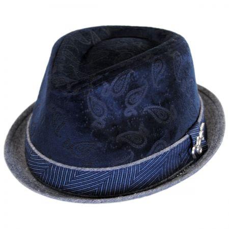 Carlos Santana Mojo Velvet Crown Trilby Fedora Hat