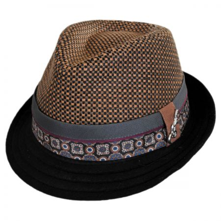 Carlos Santana Hue Wool Blend Trilby Fedora Hat