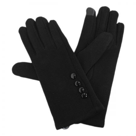 Jeanne Simmons Four Button Jersey Knit Texting Gloves
