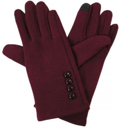 Jeanne Simmons Texting Four Button Jersey Knit Gloves