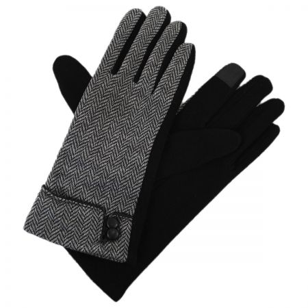 Herringbone Jersey Knit Texting Gloves