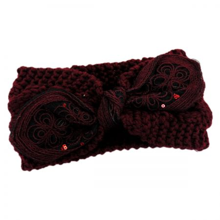 Floral Tie Knit Headband alternate view 1