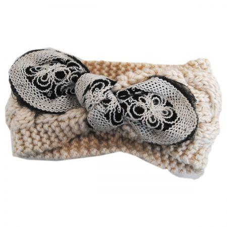 Jeanne Simmons Floral Tie Knit Headband