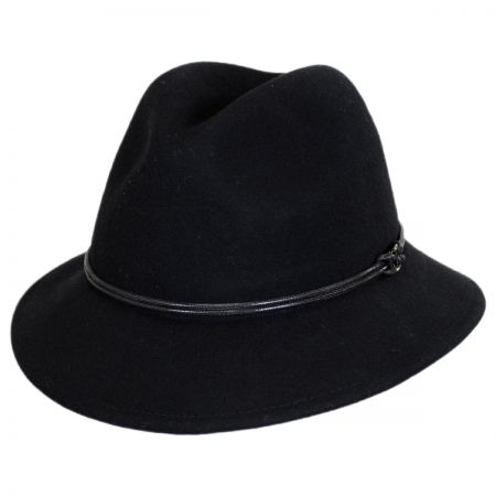 Sophia Wool Felt Down Brim Fedora Hat alternate view 1