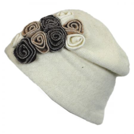 Something Special Rosette Soft Wool Cloche Hat