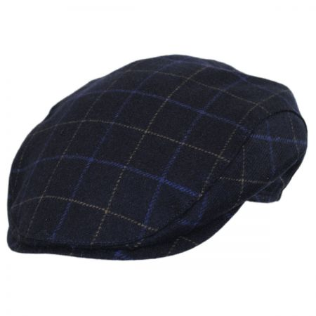 Wigens Caps Windowpane Lambswool and Cashmere Earflap Ivy Cap
