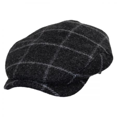 Wigens Caps Large Windowpane Earflap Wool Ivy Cap