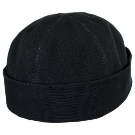Six Panel Canvas Skull Cap Beanie Hat