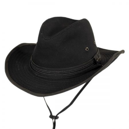 Stetson Cotton Canvas Outback Fedora Hat