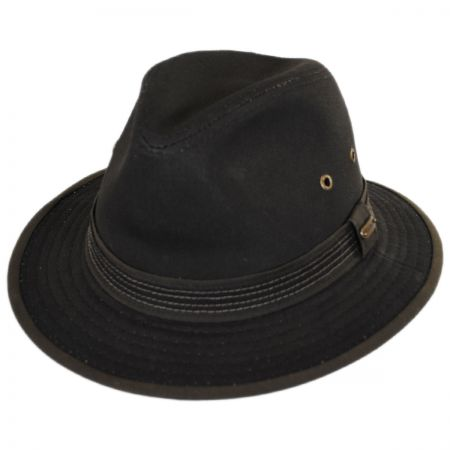 Stetson Cotton Canvas Safari Fedora Hat