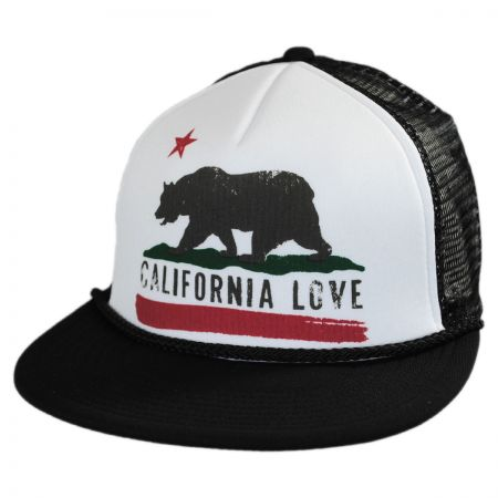 Brooklyn Hat Co California Love Flat Bill Trucker Snapback Baseball Cap