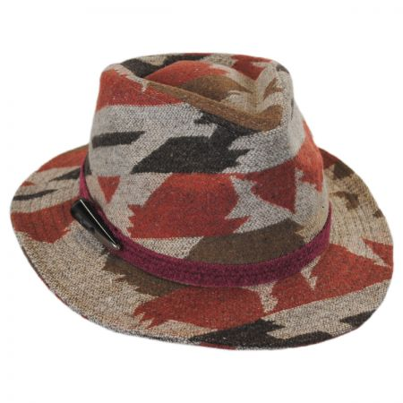 Brooklyn Hat Co Arizona Wool Blend Safari Fedora Hat