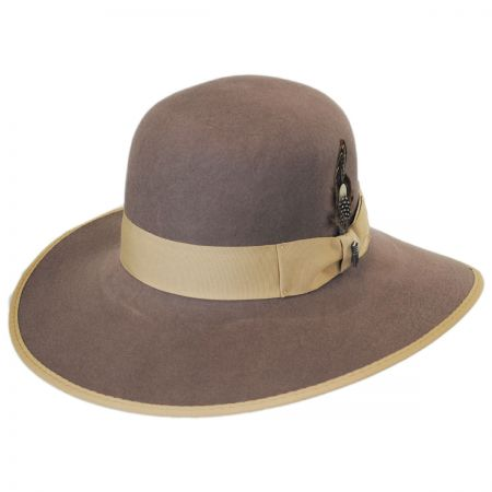 Brooklyn Hat Co El Dorado Wool Felt Open Crown Fedora Hat