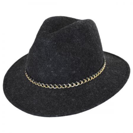 Brooklyn Hat Co Presley Wool Felt Safari Fedora Hat
