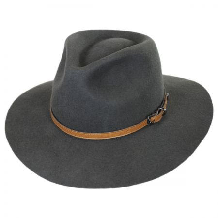 Brooklyn Hat Co Lodi Wool Felt Rancher Fedora Hat