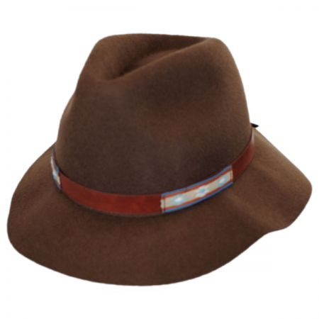Brooklyn Hat Co Navajo Wool Felt Safari Fedora Hat