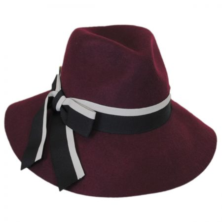 Jillian Wool Felt Downbrim Fedora Hat