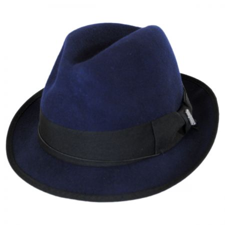 Brooklyn Hat Co Bleeker Wool Felt Trilby Fedora Hat