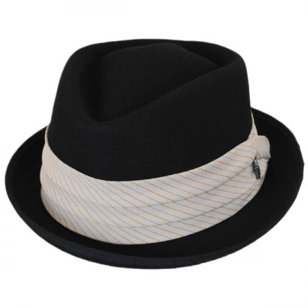 Brooklyn Hat Co Duck Wool Felt Diamond Crown Fedora Hat