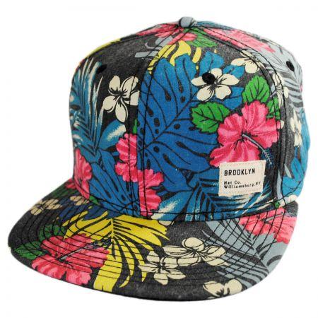 Brooklyn Hat Co Poi Leather Strapback Baseball Cap