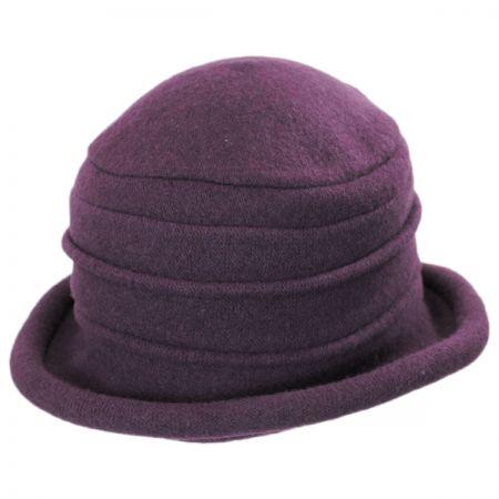 Packable Wool Cloche Hat