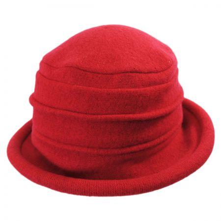 Scala Packable Wool Cloche Hat