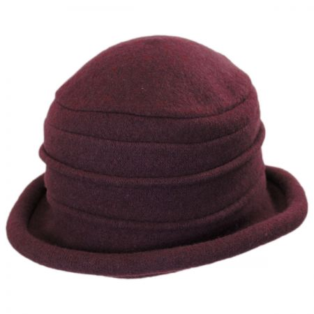 Packable Wool Cloche Hat