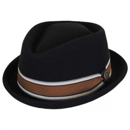 Goorin Bros Jeffrey Wool Felt Diamond Crown Fedora Hat