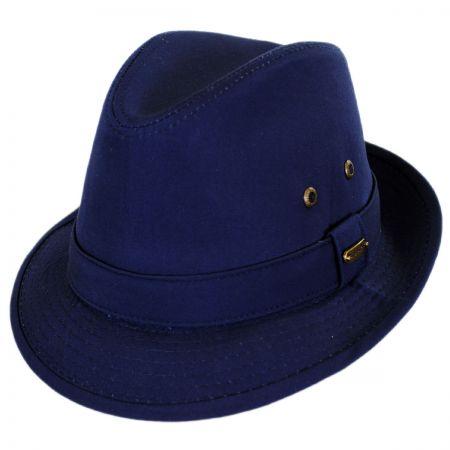 Stetson Cotton Rain Trilby Fedora Hat