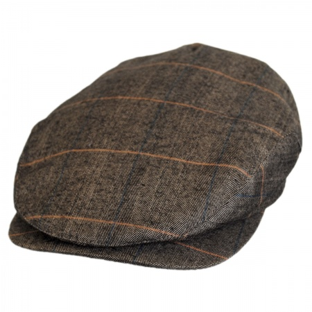 Jaxon Hats Hoxton Herringbone Plaid Wool Blend Ivy Cap