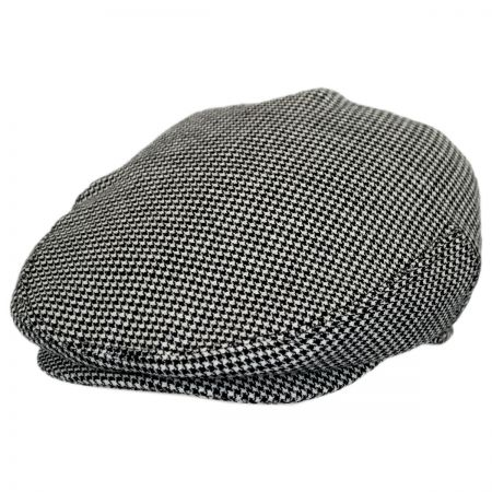 Baskerville Hat Company Henry Houndstooth Wool Ivy Cap