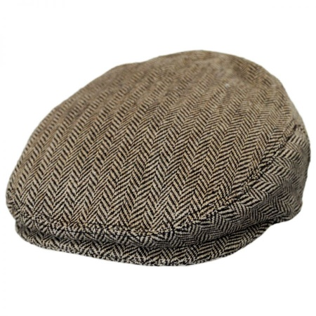 B2B Jaxon Kids' Herringbone Wool Blend Ivy Cap - Brown