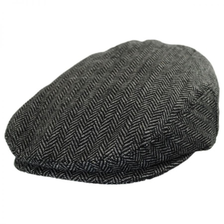 B2B Jaxon Kids' Herringbone Wool Blend Ivy Cap - Charcoal