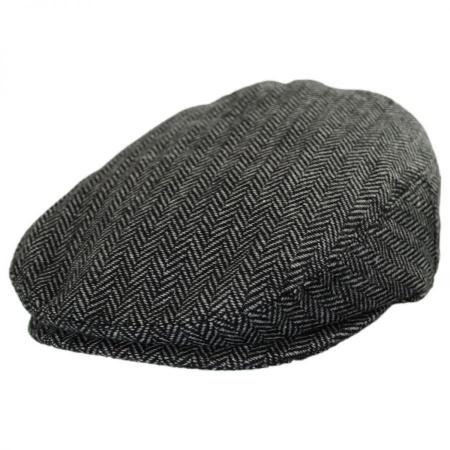 B2B Jaxon Kids  Herringbone Wool Blend Ivy Cap - Charcoal fcc9fbda42a