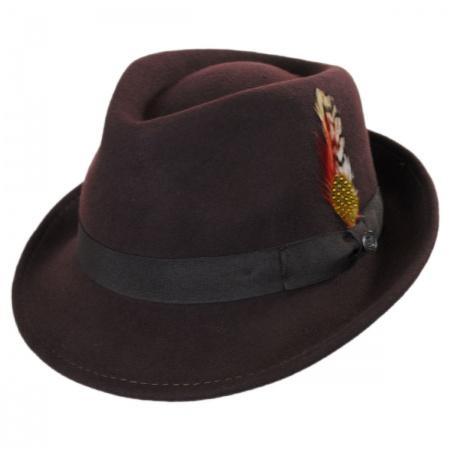 00319ca857763 B2B Jaxon Detroit Wool Felt Trilby Hat - Brown